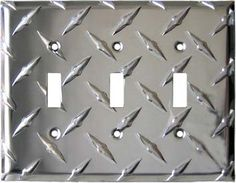 $18.50 POLISHED DIAMOND TREAD Switch Plates ~ For the wall painted with blackboard paint.