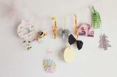 hang cut out paper wreath