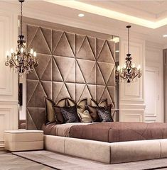 Luxurious bedrooms - 50 Luxury Bedroom Design Ideas that you Definitely want for your Dream Home – Luxurious bedrooms Luxury Bedroom Design, Master Bedroom Design, Home Bedroom, Bedroom Decor, Bedroom Designs, Bedroom Lighting, Bedroom Ideas, Modern Luxury Bedroom, Luxury Master Bedroom