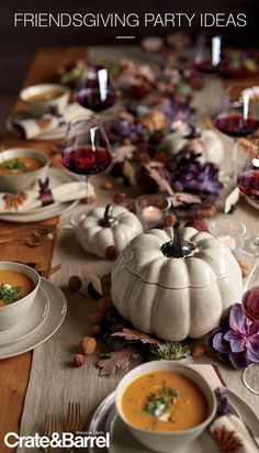 Wilder White Ceramic Pumpkins l Crate and Barrel Thanksgiving Table Settings, Thanksgiving Centerpieces, Thanksgiving Crafts, Thanksgiving 2020, Thanksgiving Celebration, Autumn Centerpieces, Rustic Thanksgiving, Fall Table Settings, Centerpiece Ideas
