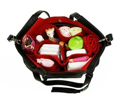 """The removable """"baby bag"""" means that the handbag grows right along with your growing family! Designer Diaper Bags by Lily Jade"""