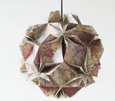 Attractive Crease And Fold A Sakura Lampshade. . Free Tutorial With Pictures On How To  Make Nice Look