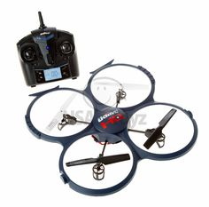 Get perfect aerial footage with an HD Quadcopter that captures BOTH video and pictures in crystal clear HD with a bonus battery for double the flying time! UDI U818A-1 Discovery 2.4GHz 4 CH 6 Axis Gyro RC