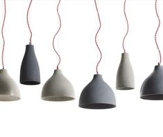 #Concrete lamps by Benjamin Hubert