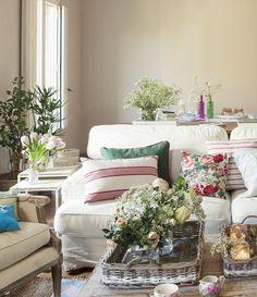 Ideas para conseguir un salón fresco y primaveral · ElMueble.com · Salones