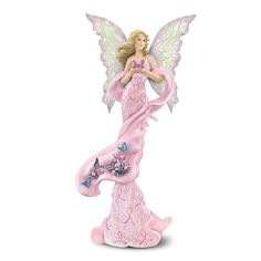 Breast Cancer Support Fairy Figurine: Hope Takes Flight by The Hamilton Collection « Breast Cancer Awareness Merchandise | Pink Ribbon Store