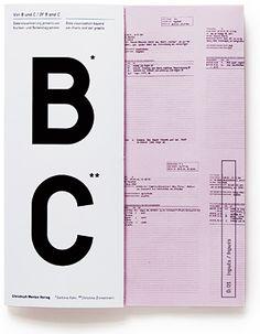 Von B und C – Datenvisualisierung jenseits von Kuchen- und Balkendiagrammen Christoph Merian Verlag (2008)