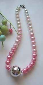 Stunning Iridescent Pink Ombre Pearl Necklace! #handmade#ebay#artisan#jewelry #necklaces#pearl