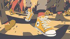 Converse Chuck Taylor II on Behance Flat Illustration, Graphic Design Illustration, Digital Illustration, Vincent Van Gogh, Sad Art, Visual Development, Grafik Design, Illustrations And Posters, Art Inspo