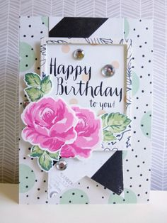 Happy birthday florals - 2015-06-08 - koolkittymusings.typepad.com featuring the new Altenew dye inks and #altenew Vintage Flowers