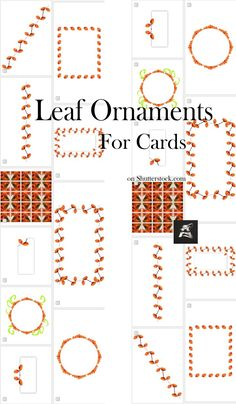 Special #set with #autumn #leaf ornaments useful for invitation or greeting #cards, #banner #stationery #stockphotography #stock #image Easy Crafts, Crafts For Kids, Text Frame, Pretty Drawings, Greeting Cards, Gift Cards, Image Collection, Fun Projects