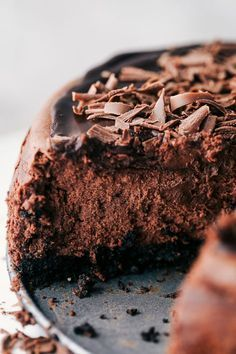 Death By Chocolate Cheesecake has an Oreo crust with creamy, decadent and rich chocolate cheesecake. Topped with dark chocolate ganache ...