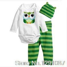 2016 Hot Roupas De Bebe Menina Baby Girl Clothing Set (Romper+Hat+Pants 3 pcs) Infant Baby Boys Clothes Baby Set Rompers