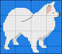 Volpino Italiano Mini Cross Stitch, Cross Stitch Animals, Cross Stitch Charts, Cross Stitch Patterns, Craft Patterns, Quilt Patterns, Crochet Patterns, Animal Quilts, Dog Crafts