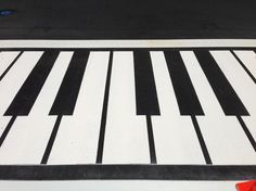 The crosswalks near Cathedral Square Park now sport piano keys reflective of the weekly Jazz in the Park events the park hosts during the summer.