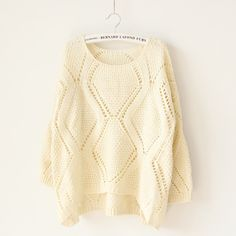 Loose solid sweater