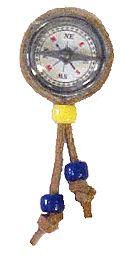 compass neckerchief slide