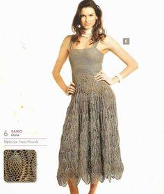 Patrón #1554: Vestido a Crochet #crochet  http://blgs.co/z_3J71