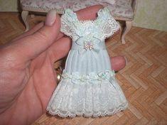 Dollhouse miniature 1/12. Lady dress