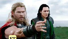 Tom Hiddleston and Chris Hemsworth in Thor: Ragnarok. Video: https://www.cosmicbooknews.com/watch-new-hela-footage-thor-ragnarok?amp