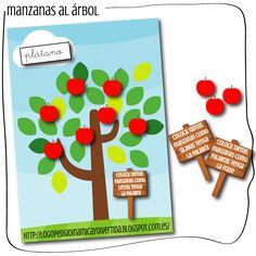 Logopedia dinámica y divertida : manzanas al árbol