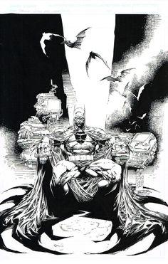 Batman by Marc Silvestri and Batt >>> http://marcsilvestriart.com/store/