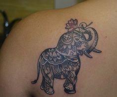 Elephant Tattoo For Girls