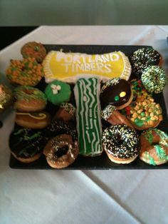Creative Portland Timbers doughnuts! #PTFCFood
