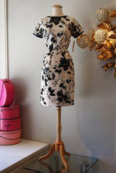 e5987fe95aa 60s Dress    Vintage 1960s Rose Garden Silk by xtabayvintage