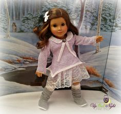 Winter Mori Girl Outfit  fits American Girl by upowlnightcrafting #pixiefairepartner