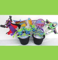 Buzz Lightyear Themed Party Centerpiece Sticks by ScrapsToRemember, $45.00