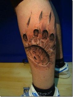 This looks awesome. # 3-D tattoos.