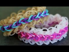 Rainbow Loom LAYERED RUFFLES Bracelet. Designed and loomed by YarnJourney. Click photo for YouTube tutorial. 06/23/14.
