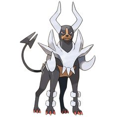 Mega Houndoom - 229 - Long ago, people imagined its eerie howls to be the call of the grim reaper. The flames it breathes when angry contain toxins.  If they cause a burn, it will hurt forever.  @PokeMasters