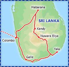 Sri Lanka suggested itinerary