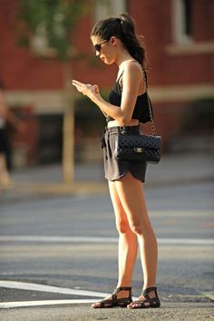 How to do black on black for the summer