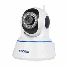 ESCAM QF002 HD 720P IP Camera Night Vision H.264 Onvif P2P WIFI Indoor Infrared Security Surveillance CCTV Mini Dome Camera