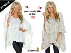 ❤ Vores nye Kaylee poncho er super blød og lækker ❤Vi er helt vilde med den ❤Fås i 2 skønne farver ❤ Hvilken farve vil du vælge?  http://bellanordic.dk/nye-produkter