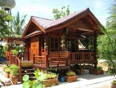 Home Design Plans Country Log Cabins 33 Ideas For 2019 Bamboo House Design, Tropical House Design, Small House Design, Cottage Style House Plans, Tiny House Cabin, Rest House, House In The Woods, Bahay Kubo Design, Philippines House Design