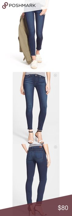 Paige Verdugo Ankle Mid Rise Ultra Skinny Jean Cleaning out my closet & these are too snug on my belly! Super soft & comfy besides that though. Paige Jeans Jeans Skinny
