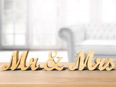 Mot en bois contreplaqué - MR & MRS