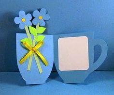 Vejam que lindo esse cartão de xícara com flores para o dia das mães. Deixando claro que as imagens capturei da net e não são de minha auto...