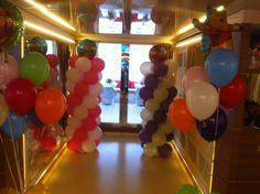 balloon's décoration yacht in Cannes   www.daniki.com
