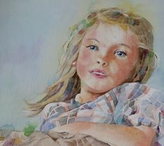Lovely watercolour portrait of a young girl by Judith Jerams