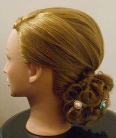 Low updo. Prom hair, wedding hairstyle