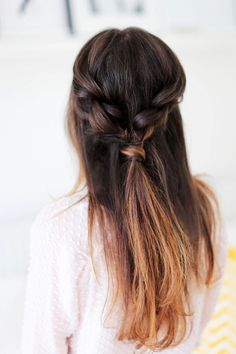 Click to learn how to create this Double Dutch Braid.