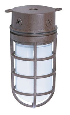 """View the Nuvo Lighting 76/625 Single Light 10"""" 100W Industrial Style Surface Mount Fixture with Frosted Glass Shade, in Old Bronze Finish at Build.com."""