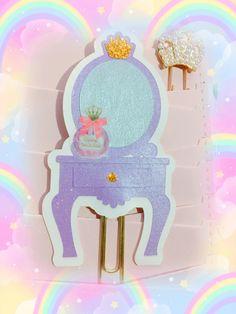 Paper clip specchiera makeup lilac  planner happy memory hand made di AliceKawaiiShop su Etsy