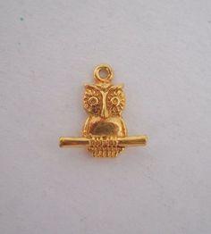 #925Silver #925Sterling #925SterlingSilver #Sterling #Silver #SterlingSilver & #Vermeil #Gold #GoldPlated #Owl #Pendant #Necklace #OwlPendant 0.8g