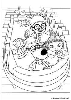 peabody sherman coloring pages for kids 33
